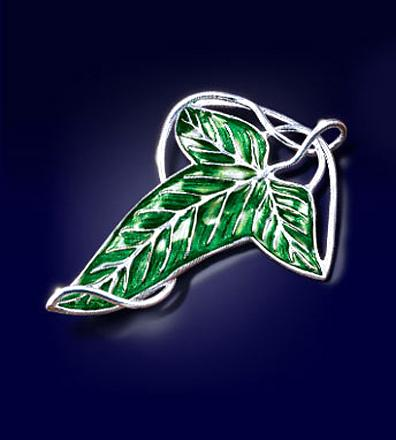 Lord of the Rings Elven Leaf Brooch (silver plated)