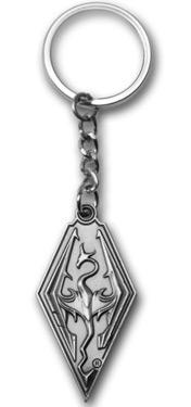 Elder Scrolls V Skyrim Dragon Symbol Keychain