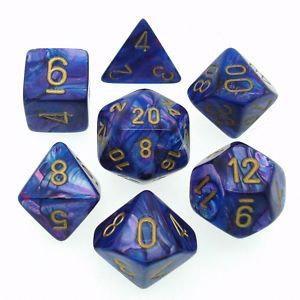 Lustrous Purple/Gold (set of 7 dice)