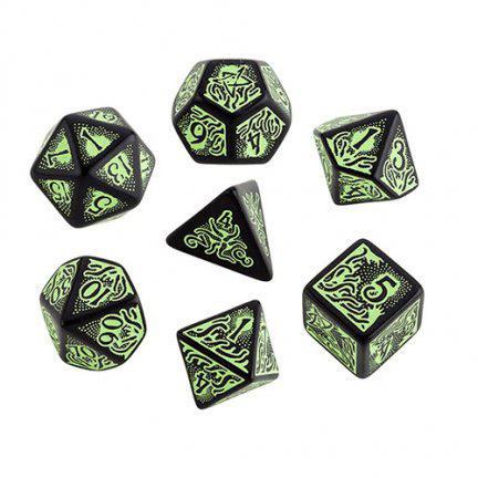 Call of Cthulhu Black/Green Dice Set