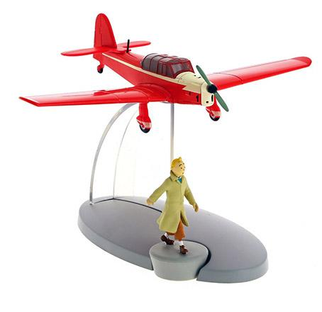 Flygplan - Rött flygplan från Den svarta ön med Tintin