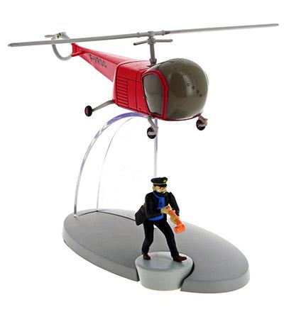 Flygplan - Röd helikopter från Det hemliga vapnet med Haddock