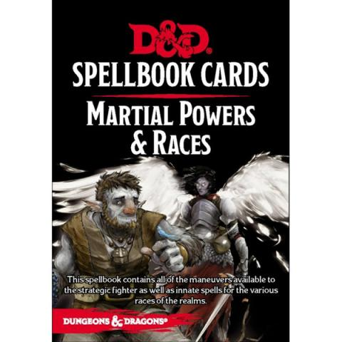 Spellbook Cards: Martial Powers & Races