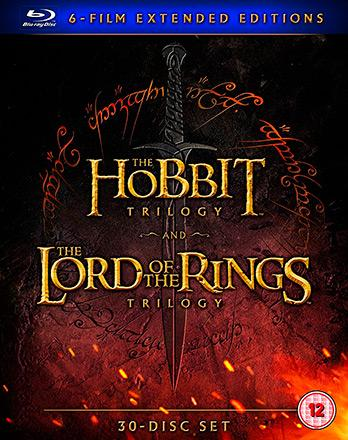 The Hobbit Trilogy & The Lord of the Rings Trilogy (Extended)
