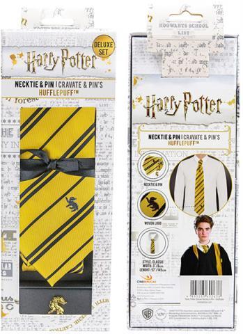 Harry Potter Tie & Metal Pin Deluxe Box Hufflepuff