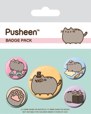 Pusheen Pin Badges 5-Pack Fancy
