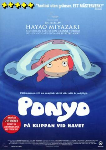 Ponyo on the Cliff by the Sea/Ponyo på klippan vid havet