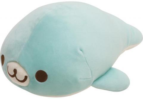 Mamegoma Seal Plush: Medium Super Soft Blue