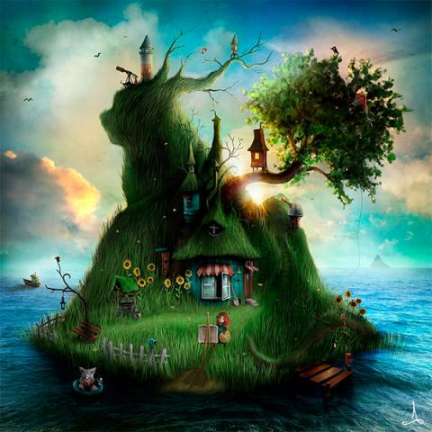 Vykort - Felicia's Island (summer)