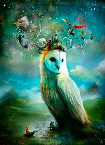 Vykort - The Astro Owl