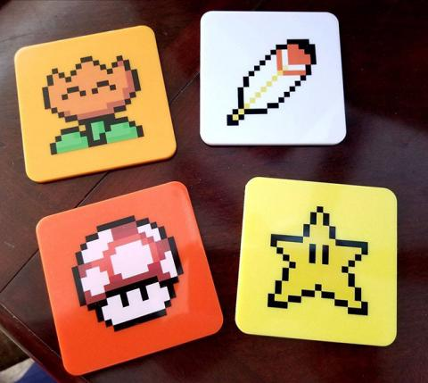 Super Mario World Coaster 4-Pack Power-Ups