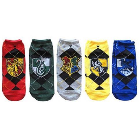 Harry Potter Ladies Ankle Socks 5-Pack
