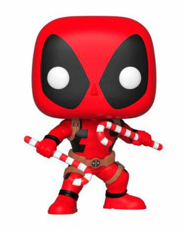 Holiday Deadpool with Candy Canes Pop! Vinyl Figure