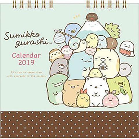 Sumikkogurashi Revolving Tabletop Calendar 2019