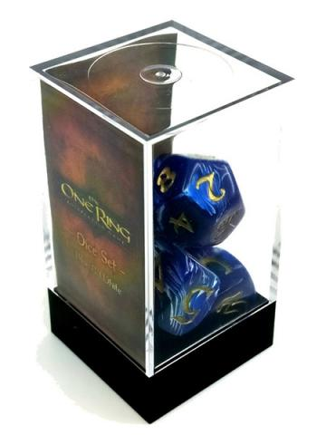 The One Ring Dice Set (Blue & White)