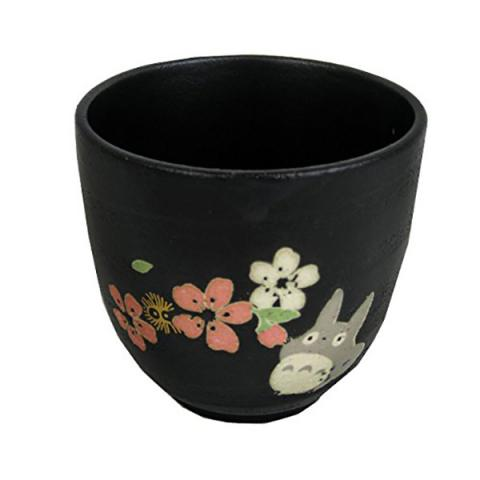Totoro Ceramic Japanese Tea Mug Black