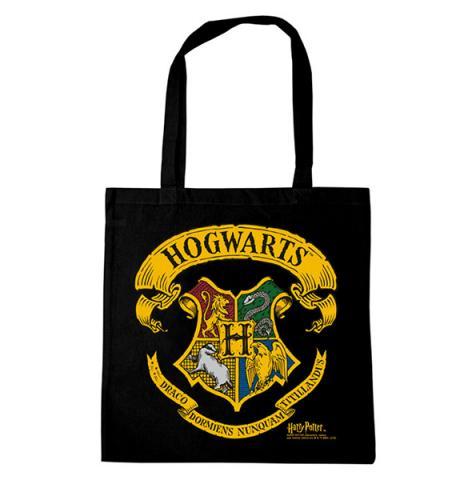 Harry Potter Hogwarts Logo Tote Bag Black