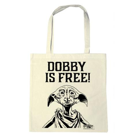 Harry Potter Dobby Is Free Tote Bag Black