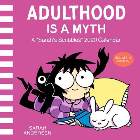 Adulthood is a Myth: A Sarah's Scribbles 2020 Wall Calendar