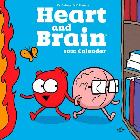 Heart and Brain 2020 Wall Calendar