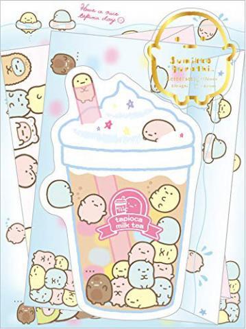 Sumikkogurashi Letter Set: Tapioca Milk Tea