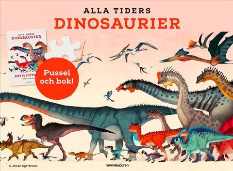 Alla tiders dinosaurier - aktivitetsbok och pussel 150 bitar