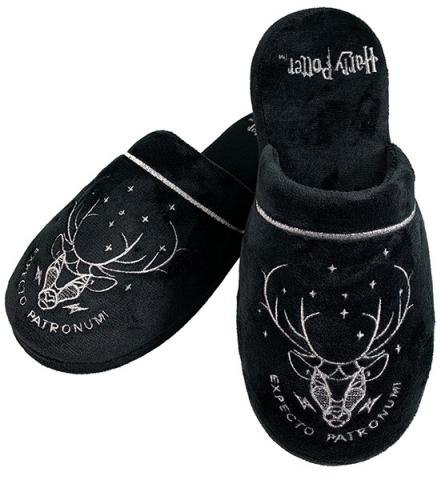 Harry Potter Patronus Black Ladies Mule Slippers