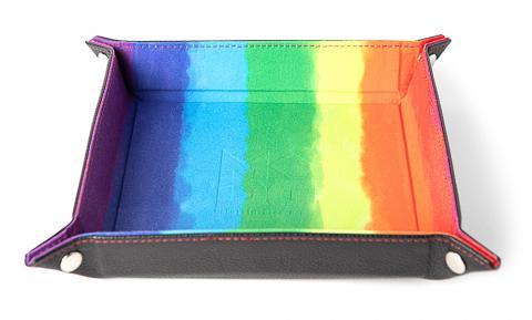 Dice Tray Velvet Rainbow Watercolor