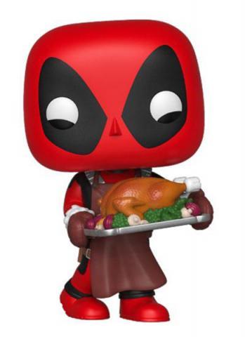 Holiday Deadpool with turkey Pop! Vinyl Figure