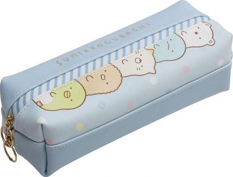 Sumikkogurashi Pen Case: Blue Stripes