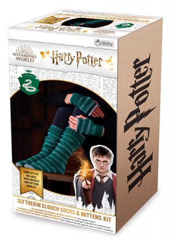 Slytherin Slouch Socks & Mittens Knit Kit