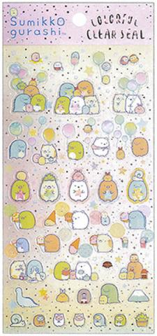 Sumikkogurashi Stickers: Colorful Clearseal