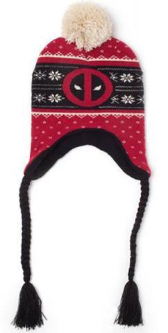 Deadpool Ski Beanie Red Badge Xmas Laplander