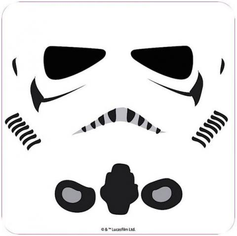 Stormtrooper Face Coloured Coaster