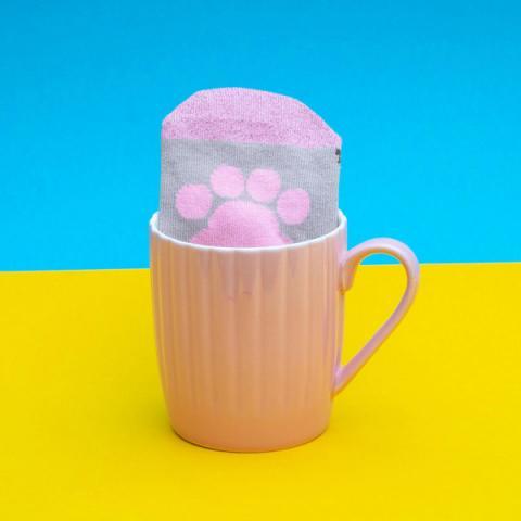 Pusheen Sock in a Mug Pink