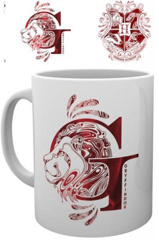 Harry Potter Mug Gryffindor Monogram
