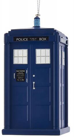 Doctor Who 13th Doctor Tardis 4 1/2-Inch Blow Mold Ornament