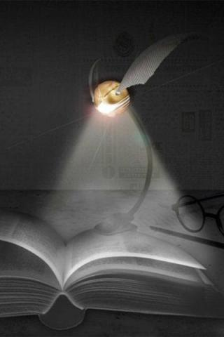 Harry Potter Lumi Clip LED Reading Lamp Golden Snitch