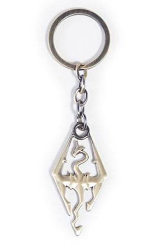 Elder Scrolls V Skyrim Metal Keychain Logo