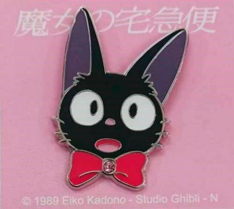 Kiki's Delivery Service Pin Badge Jiji (face)