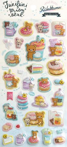 Rilakkuma Stickers: Funifuni Prism Seal