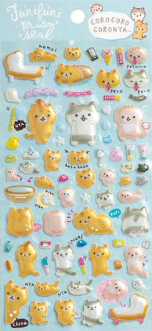 Corone Bread Cat Stickers: Funifuni Prism Seal
