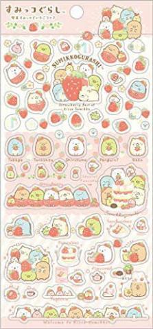 Sumikkogurashi Stickers: Strawberry Fair