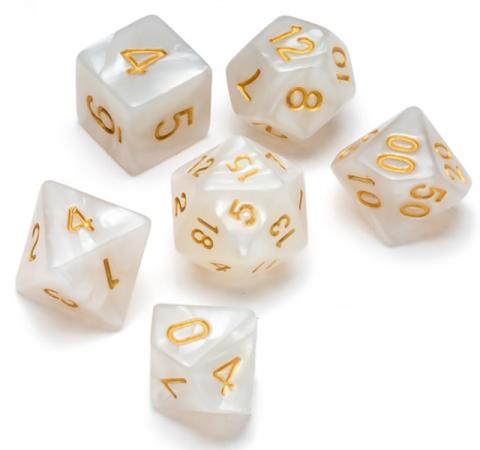 Pearl Series: White - Numbers: Gold