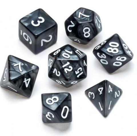 Pearl Series: Black - Numbers: White