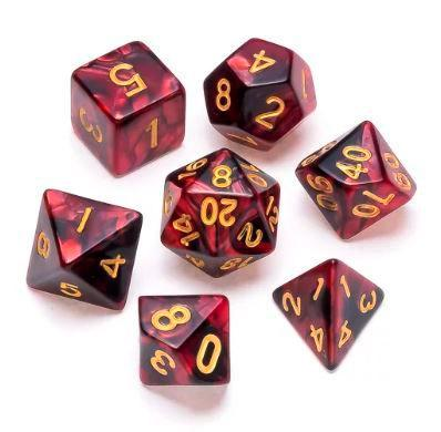 Marble Series: Red & Black - Numbers: Gold