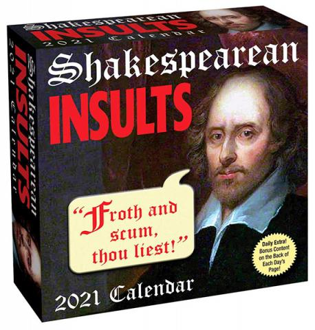 Shakespearean Insults 2021 Day-to-Day Calendar
