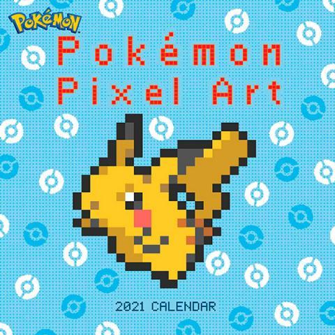 Pokemon 2021 Pixell Art Wall Calendar