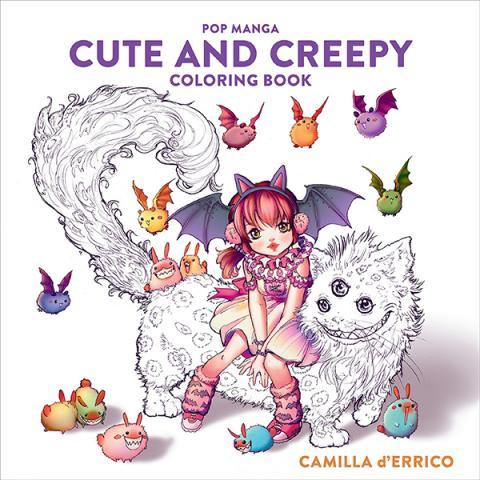 Pop Manga Cute and Creepy Coloring Book