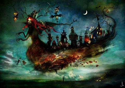 Vykort - Mist Eerie